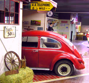 Volkswagen Beetle in the shop